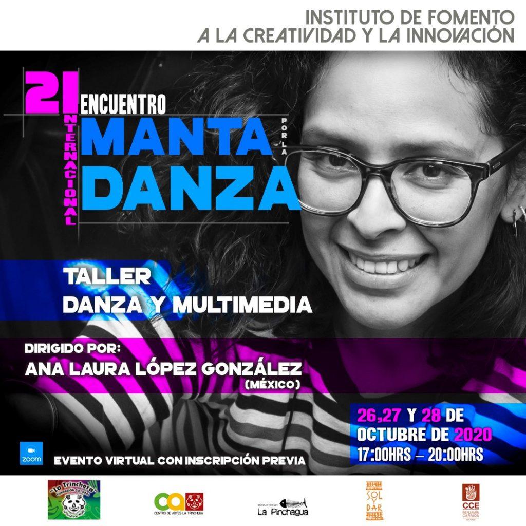 Quinto Taller | Danza y Multimedia  <br> Encuentro Internacional Manta por la Danza 2020