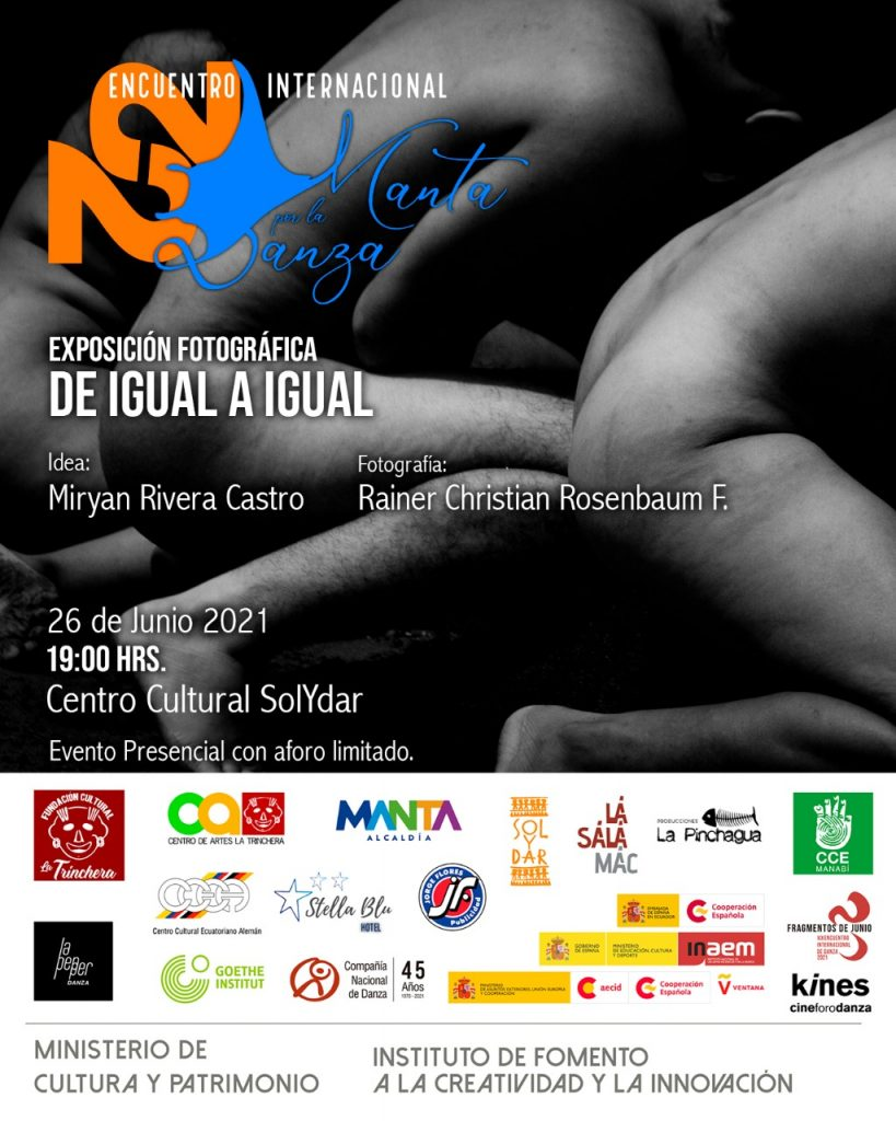 Exposición Fotográfica: De Igual a Igual <br> Encuentro Internacional Manta por la Danza 2021