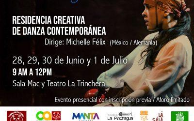 Residencia Creativa de Danza Contemporánea  Encuentro Internacional Manta por la Danza 2021