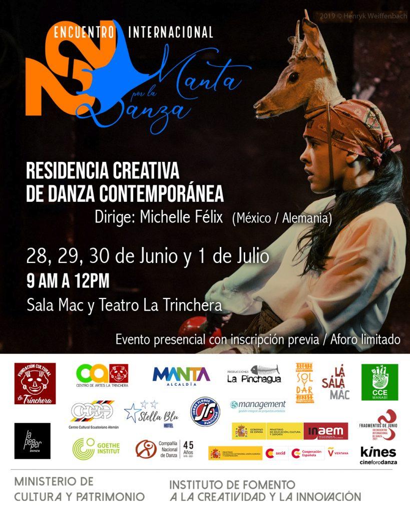 Residencia Creativa de Danza Contemporánea <br> Encuentro Internacional Manta por la Danza 2021